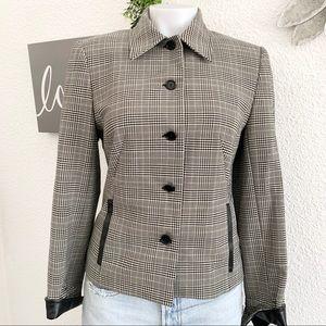 Sandro Ferrone Italian made blazer,leather trim